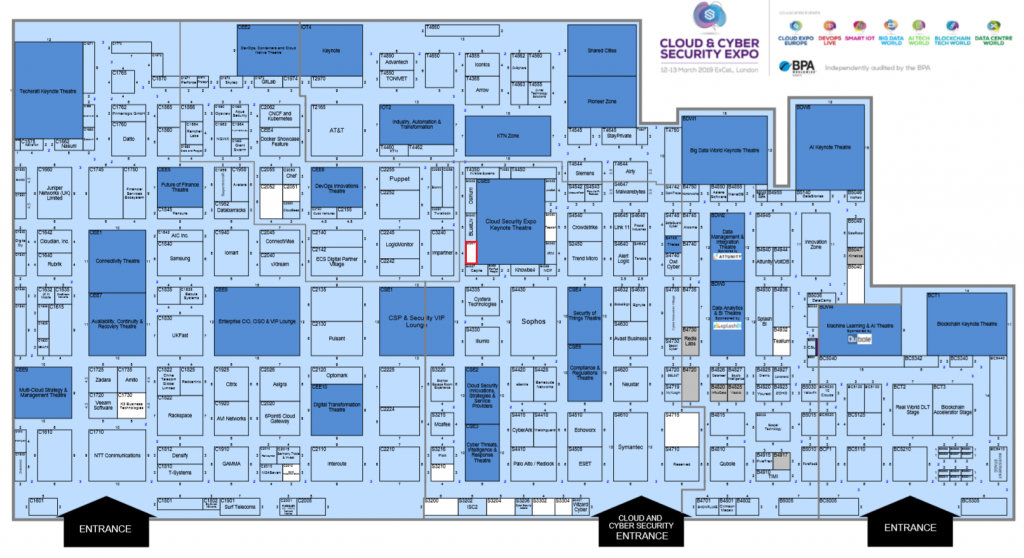 Cloud Expo Hallenplan