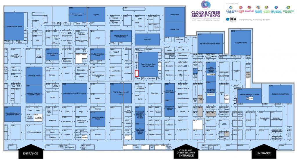 Cloud Expo Hallenplan